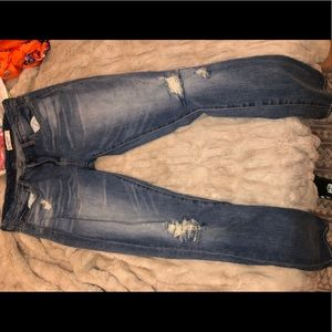 Distressed Blank Denim Jeans